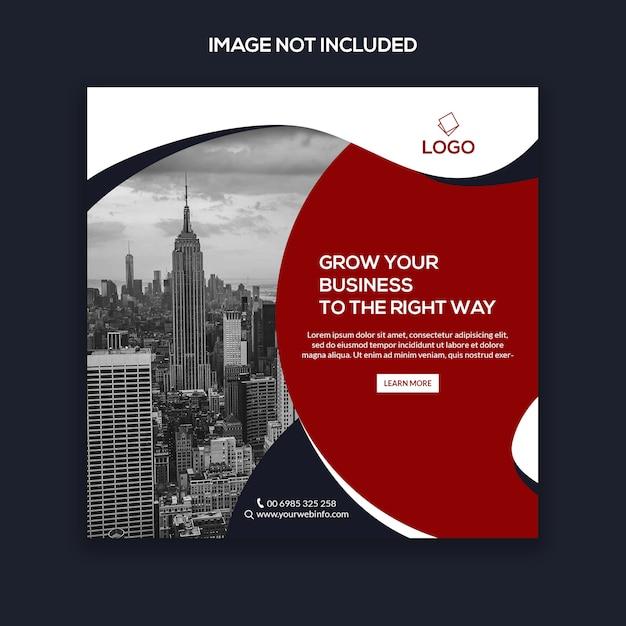 Marketing instagram post, square banner or flyer template