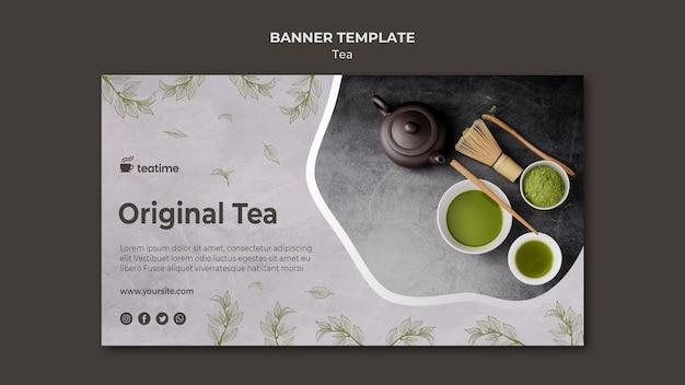 Concetto del modello dell'insegna del tè di matcha Psd Gratuite
