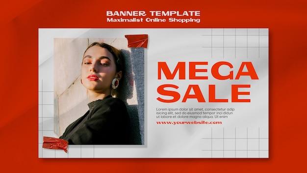 Maximalist интернет-магазин баннер шаблон с фотографией Бесплатные Psd