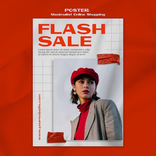Maximalist интернет-магазин плакат шаблон с фотографией Бесплатные Psd