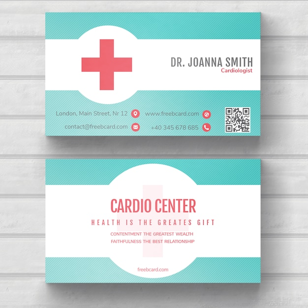 medical business card psd file free download
