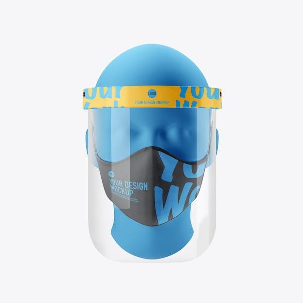 Medical face mask mockup isolated Premium Psd