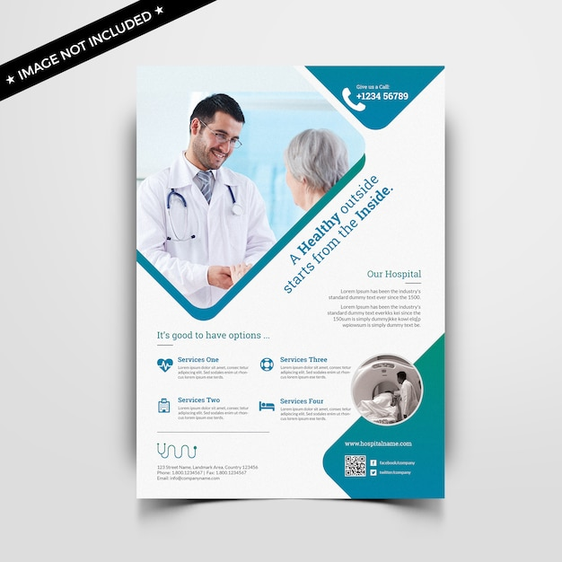 Medical flyer template Premium Psd