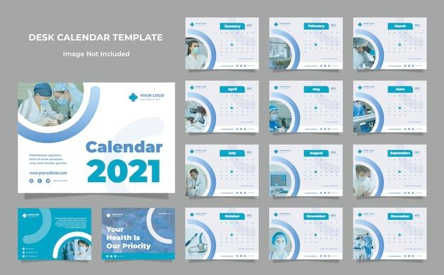 Шаблон оформления календаря медицинский стол здоровья Premium Psd