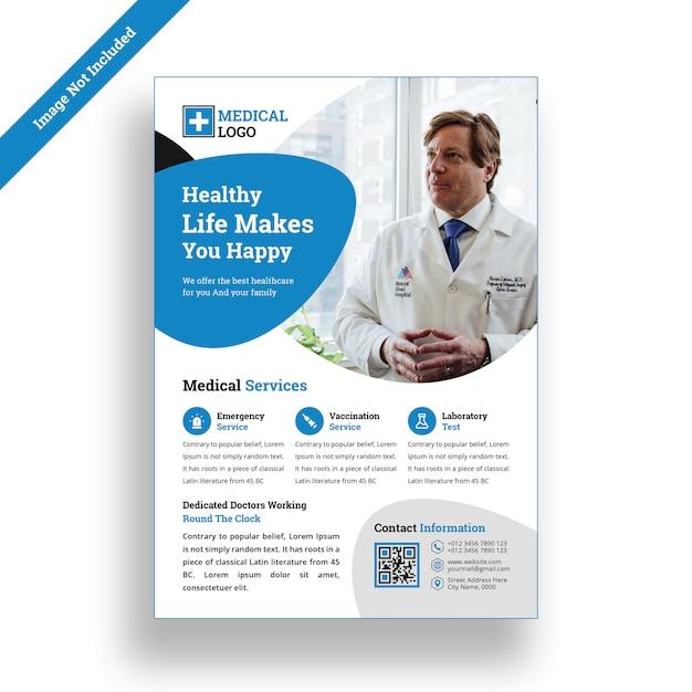 Medical hospital flyer design template psd Premium Psd