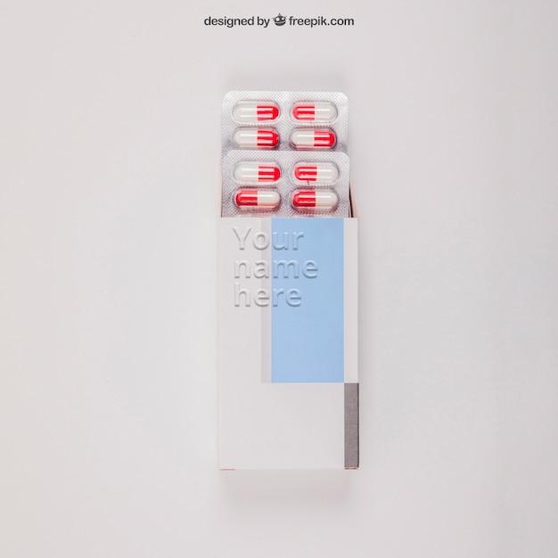 錠剤を用いた医療モックアップ 無料 Psd