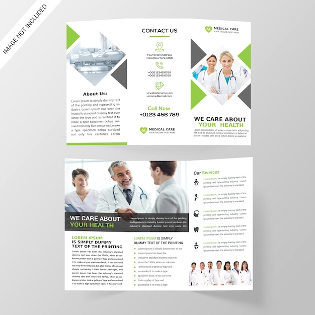 Medical tri-fold brochure Premium Psd