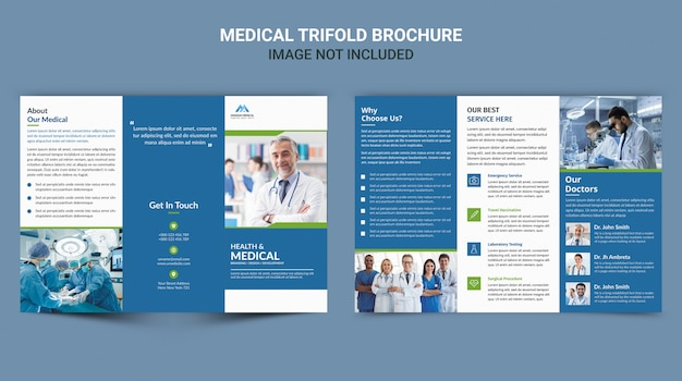 Medical trifold brochure Premium Psd