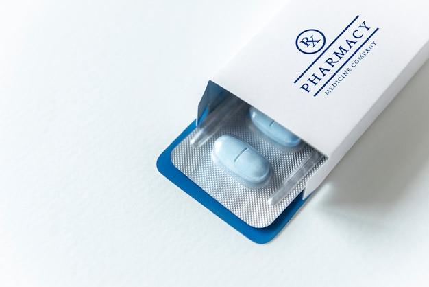 약물 브랜딩 및 포장 모형 무료 PSD 파일