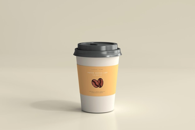 Medium size paper coffee cup mockup Free Psd