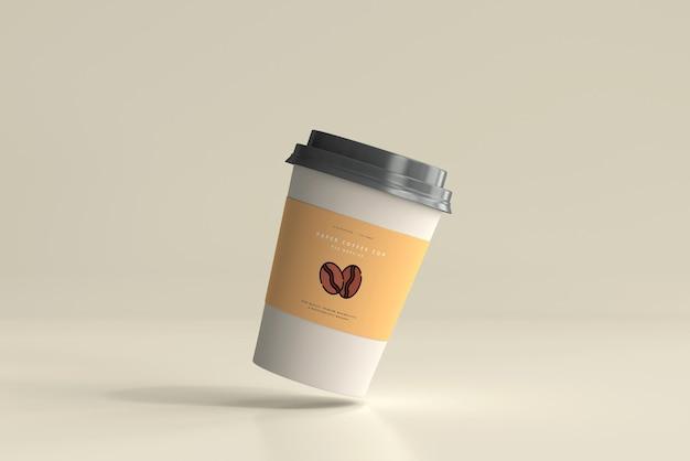 중간 크기 종이 커피 컵 모형 무료 PSD 파일