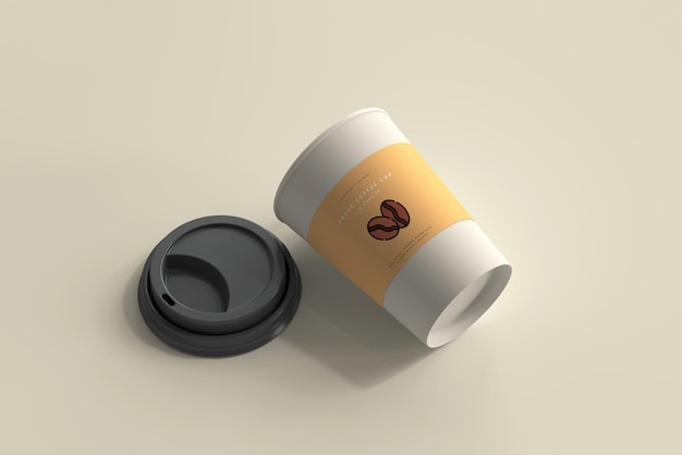 Medium size paper coffee cup mockup Free Psd