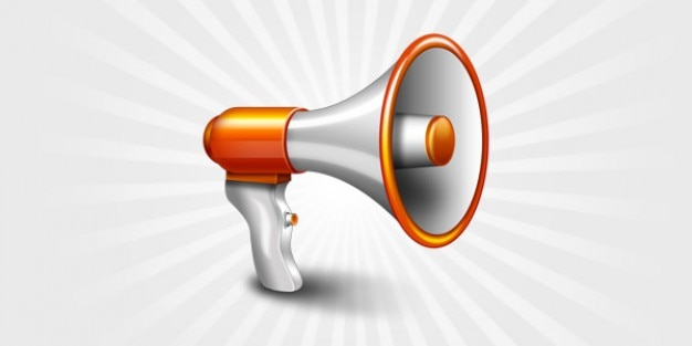 Megaphone Icon Psd File Free Download
