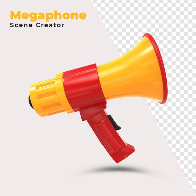 Creatore di scene del megafono Psd Gratuite