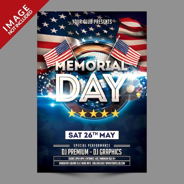 memorial day flyer template premium psd file. Black Bedroom Furniture Sets. Home Design Ideas