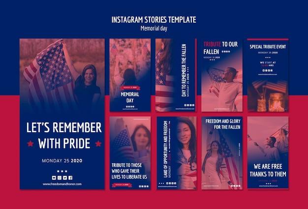 День памяти инстаграм историй Бесплатные Psd