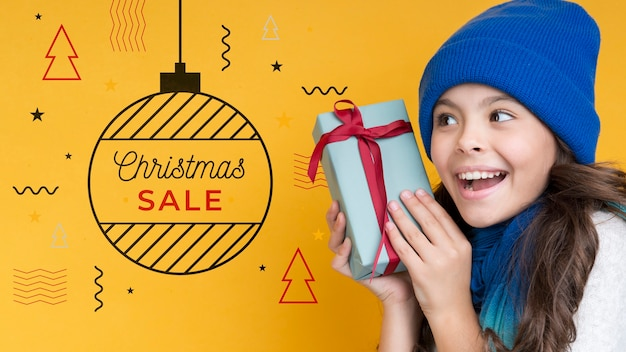 Memphis style for christmas sale campaing Free Psd