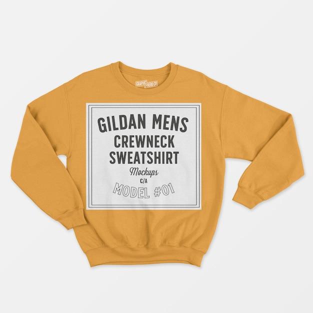 남성 크루 넥 스웨트 셔츠 무료 PSD 파일