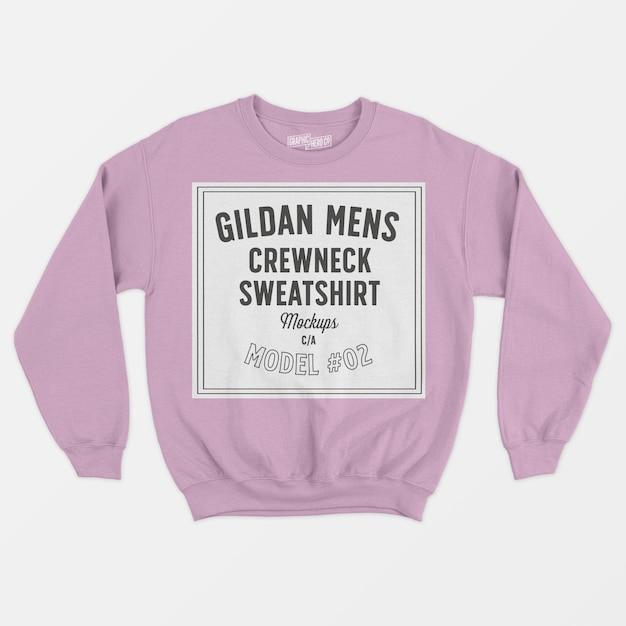 Mens crewneck sweatshirt Free Psd