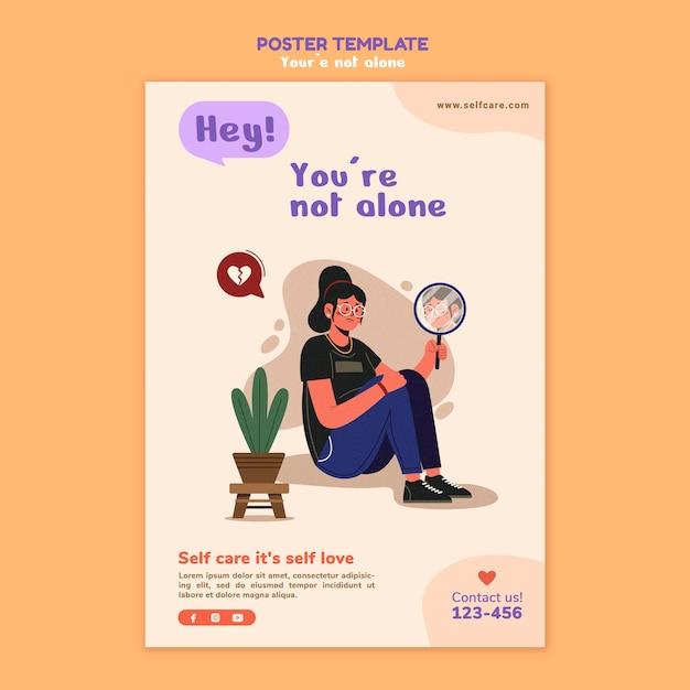 정신 건강 포스터 템플릿 무료 PSD 파일
