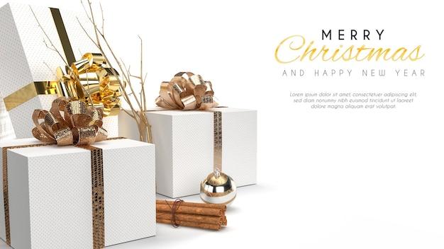 メリークリスマスバナーモックアップ Premium Psd
