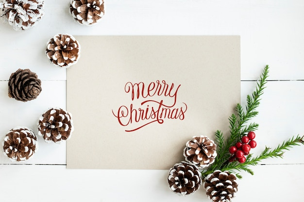 Merry Christmas Greeting Card Mockup Psd File Free Download