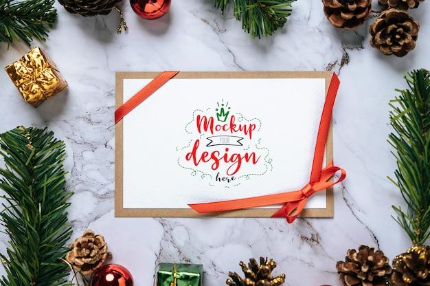 Merry christmas greeting card psd Free Psd
