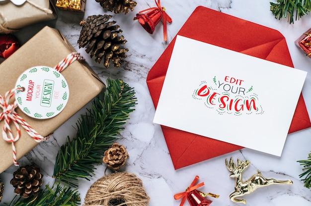 Поздравительная открытка с рождеством psd Бесплатные Psd