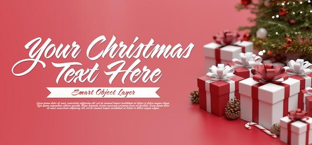 Merry christmas greeting card template Premium Psd