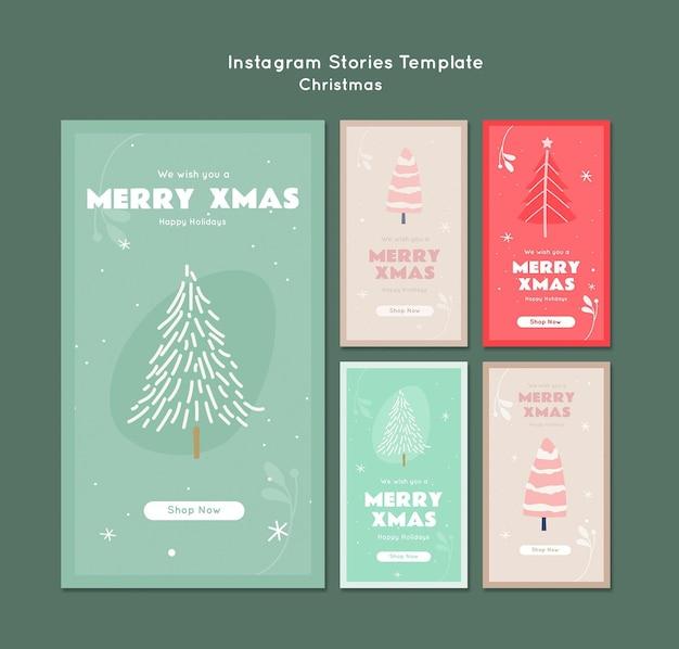 Веселые рождественские истории instagram Premium Psd