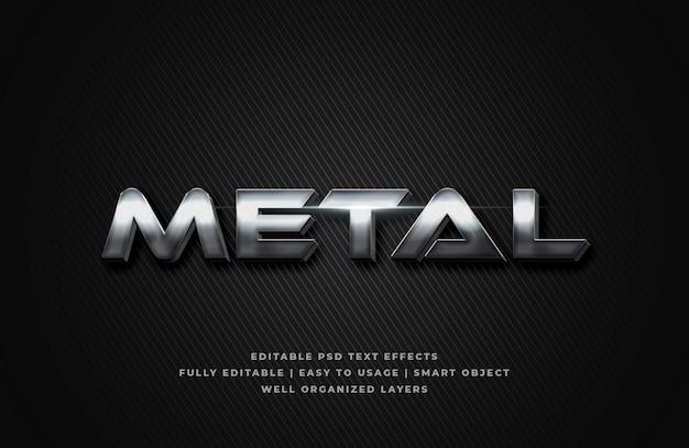 Metal 3d text style effect Premium Psd