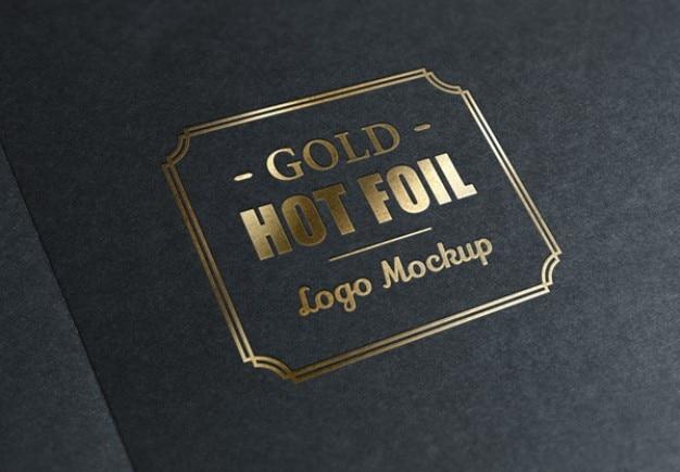 Металлический штемпель фольги с золотым логотипом Бесплатные Psd