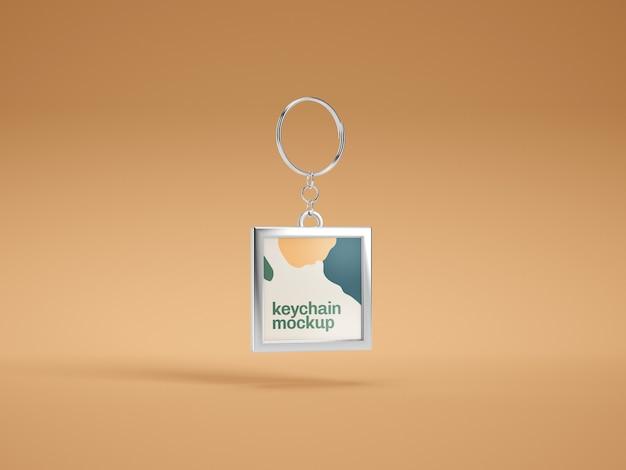 Metallic keychain mockup Premium Psd