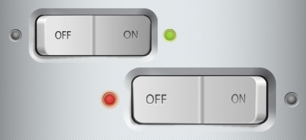 Metallic switch buttons ui psd PSD file | Free Download Facebook Like Button Psd