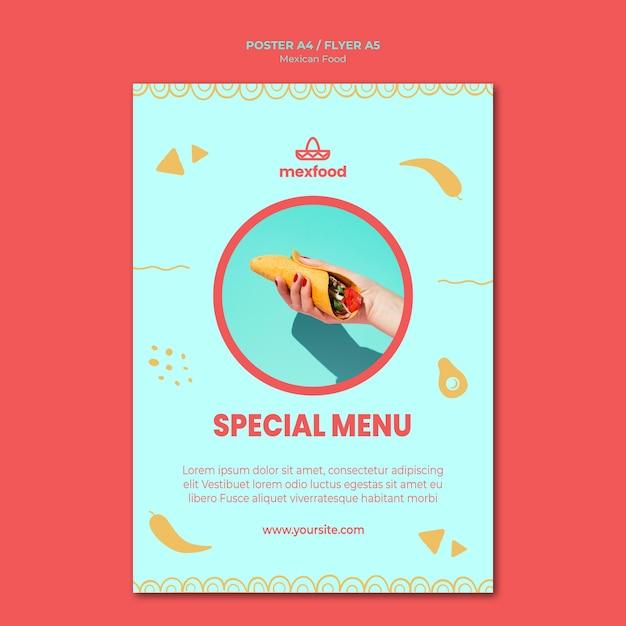 写真付きメキシコ料理ポスター 無料 Psd