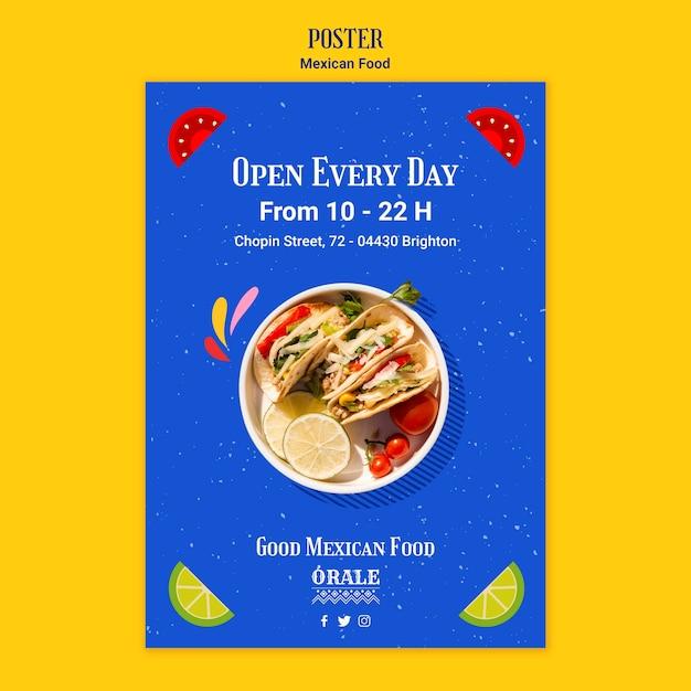 メキシコ料理のテンプレート 無料 Psd