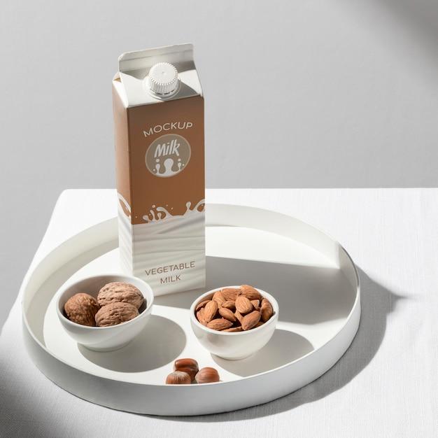 Milk bottle concept mock-up Free Psd