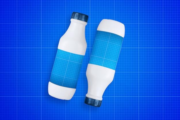 Milk bottle mockup Premium Psd