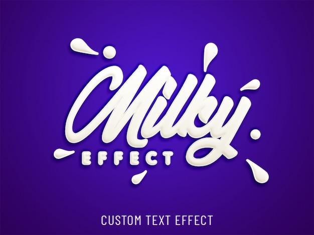 Milk splash custom text effect