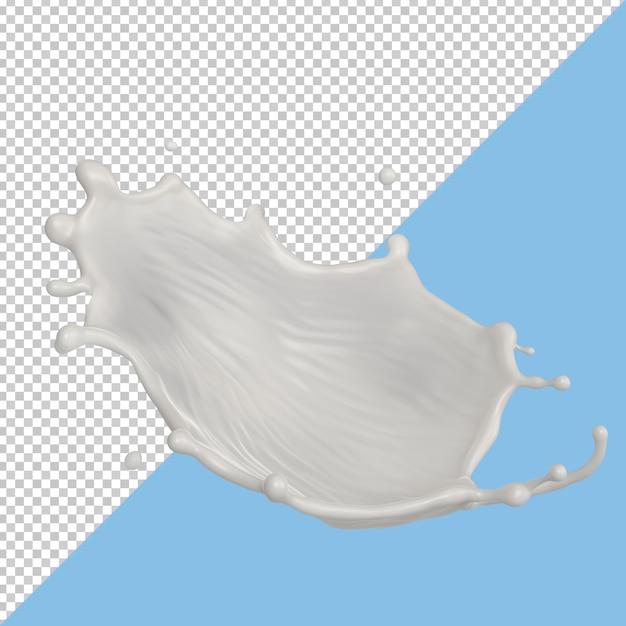 Всплеск молока изолированный жидкий пакет или всплеск йогурта Premium Psd