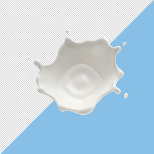 Milk splashes isolated on background Premium Psd