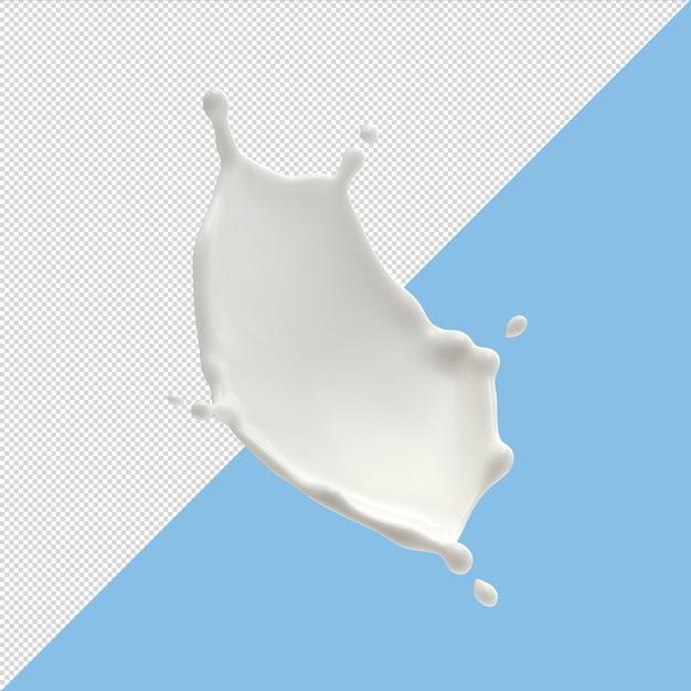 Milk splashes isolated on background Premium Psd
