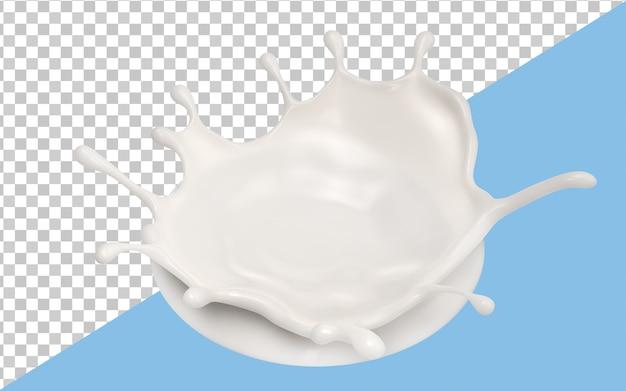 Молочные брызги изолированы Premium Psd