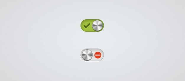 Минимальным и металлические кнопки активации Бесплатные Psd