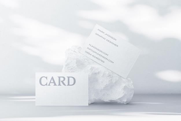 Создатель сцены минимального макета визитки Premium Psd