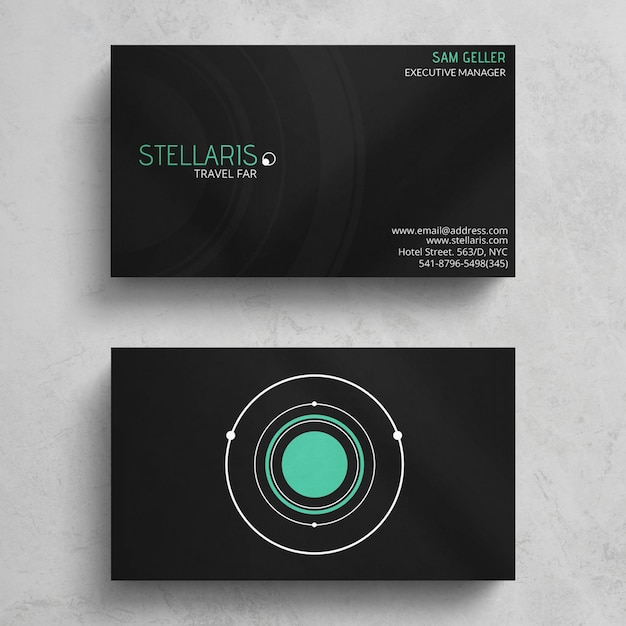 Minimal Business Card Template Free Psd
