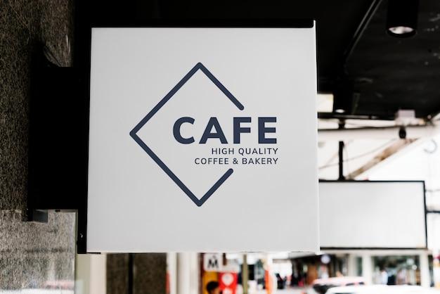 Minimal coffee shop sign mockup Free Psd