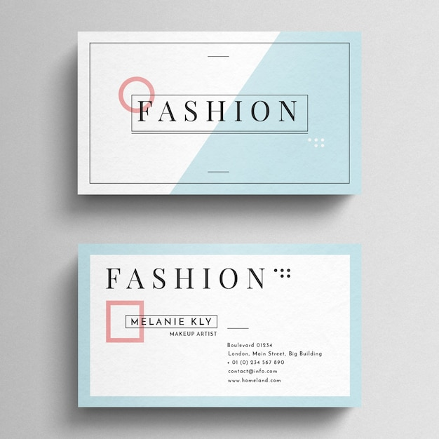 Minimal fashion business card psd file free download minimal fashion business card free psd reheart Images