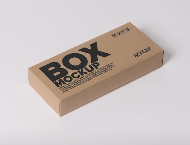 상자에 최소한의 로고 모형 프리미엄 PSD 파일