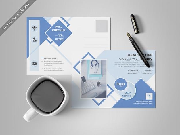 Minimal post card design template Premium Psd